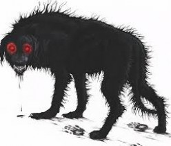 Giant wolf-dog beasts with red eyes stalk the planet and they weigh 1200-1400 pounds each.