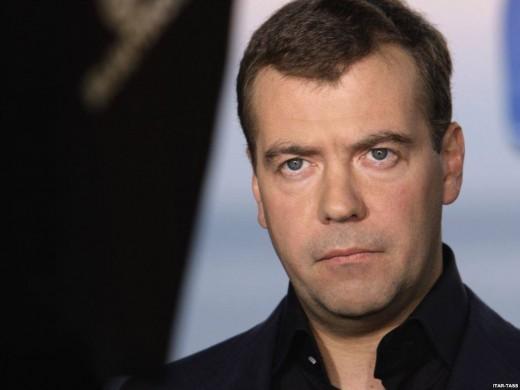 Russian Prime Minister Dimitri Medvedev