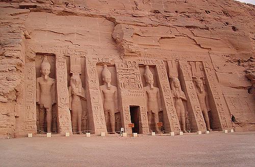 Temple of Queen Nefertari near to Abu Simbel temples