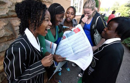 Ultimate relief and happiness when the results of matric exams confirm a pass