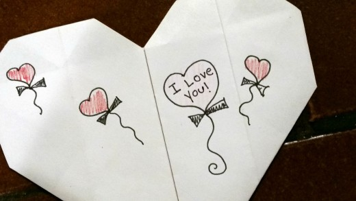 No money? No time? No worries! You can easily make your own valentines with simple printer paper.
