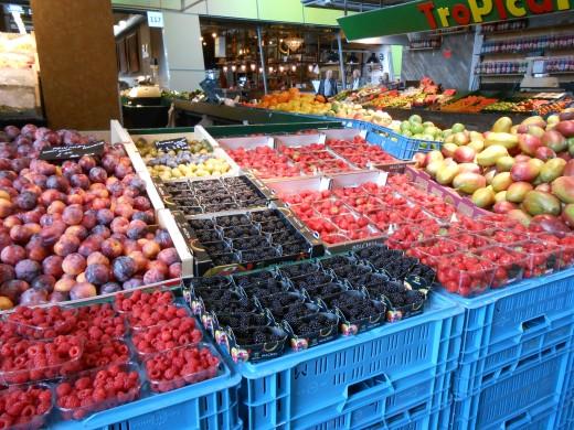 Fresh produce at the Rotterdam Flea Market