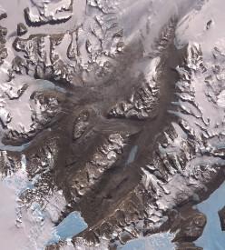 Satellite photo of McMurdo Dry Valleys