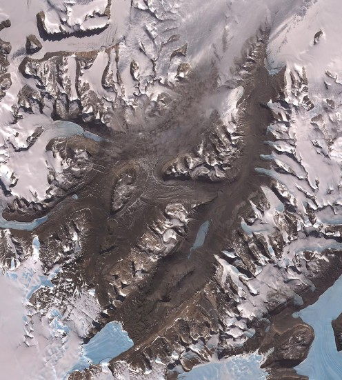 Satellite photo of McMurdo Dry Valleys