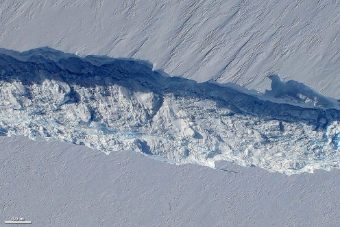Birth of an iceberg on Pine Island Glacier