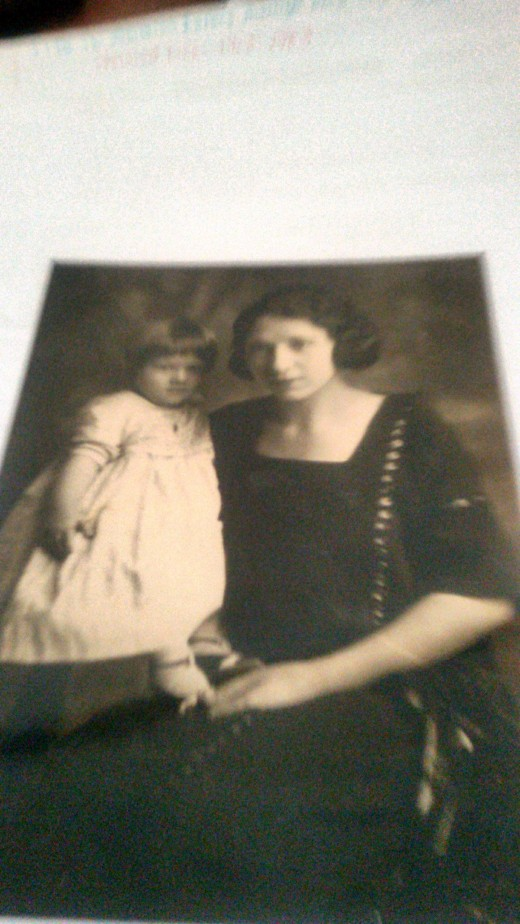 Grandma and my mother at about age one.  Photo was taken around 1921.