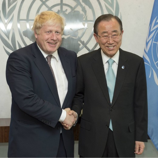 Boris with Ban Ki - Moon