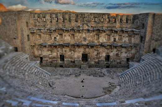 The Roman theatre in Aspendos. Turkey,