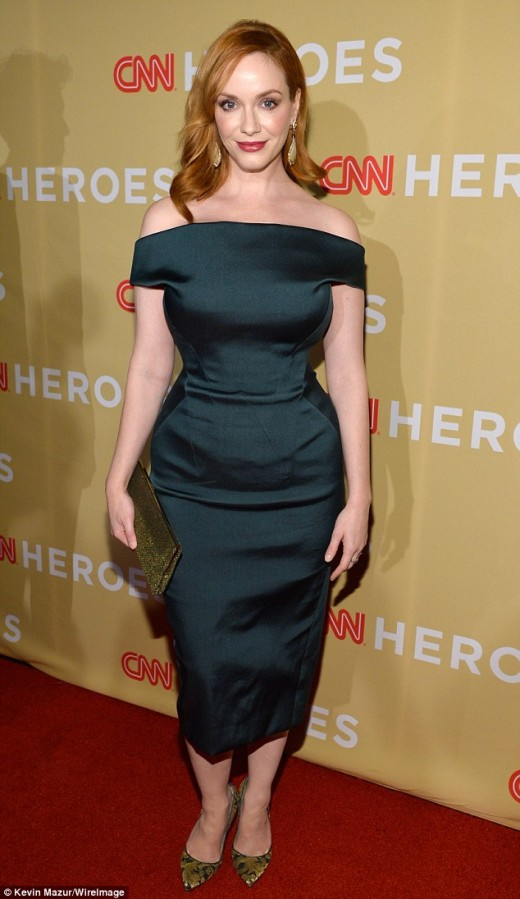Christina Hendricks embraces the Bombshell style on and off screen.