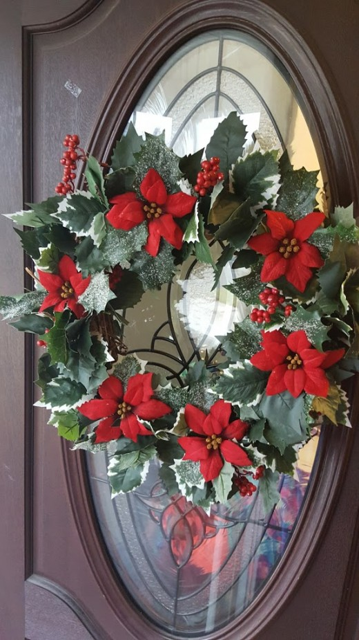 Christmas wreath for our front door I made.