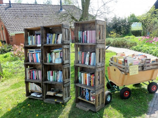 Declutter and sell or give away books you have outgrown or never read.