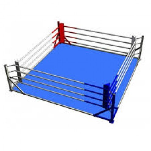The professional boxing ring measures from 16-20 feet. Many gym rings are on the floor but pro rings are between 3-5 feet off of the floor.