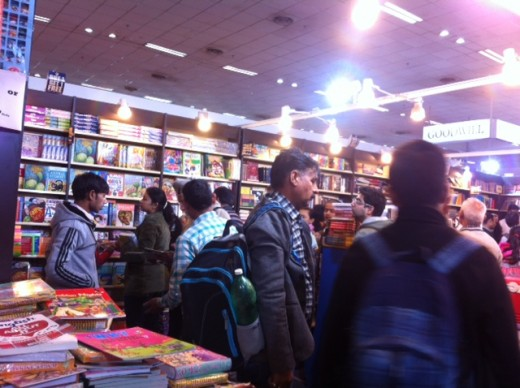 Book lovers at the World book fair 2017, Delhi