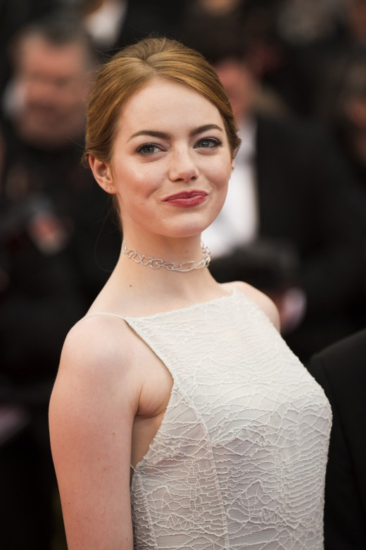 Emma Stone, here in a simple Audrey-inspired frock, is a master of the simple, understated elegance ingenue style.