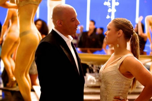 Ronda Rousey and Vin Diesel, in Fast and Furious 7