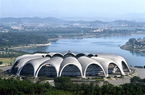 Largest and most modern stadium.  May Day Stadium, Pyongyank N. Korea