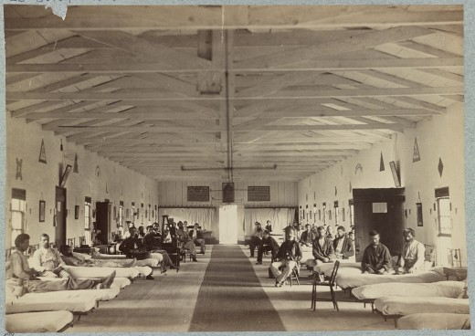 Inside a Civil War hospital.