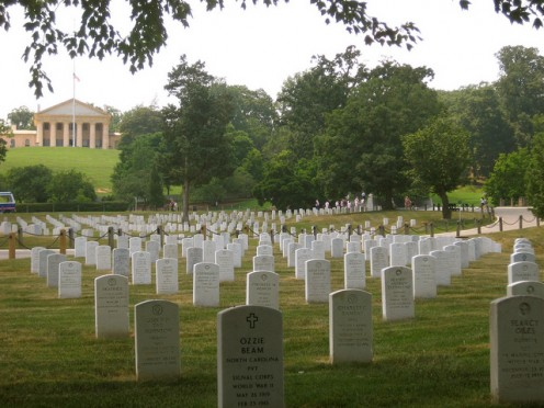 Arlington National Cemetery Too many stones across the nation mark the place where they sleep who gave their all.