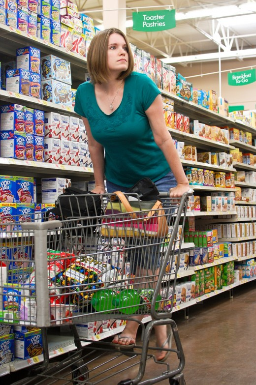 So many things to buy, so little money! Always shop with a grocery list to avoid buying unnecessary items.