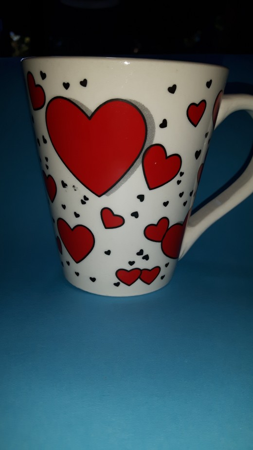 A Valentine cup! Perfect!