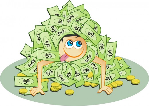 While Nothing Is Wrong about Money, We May See Greedy Human Specimens Regularly Attending Their Church.