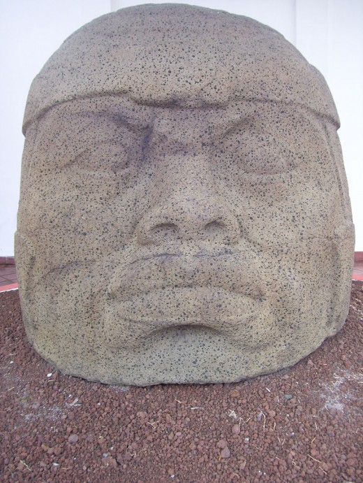 Monument Q from Tres Zapotes (also known as Nestepe Monument 1, the Nestepe Colossal Head and Tres Zapotes Colossal Head 2). This is the smallest of the Olmec colossal heads.