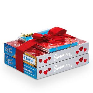 Sees sugar free Valentine trio.