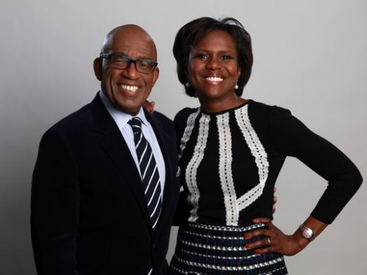 Al Roker and Deborah Roberts, husband and wife.