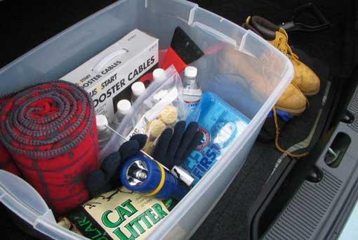 Sample emergency vehicle survival kit