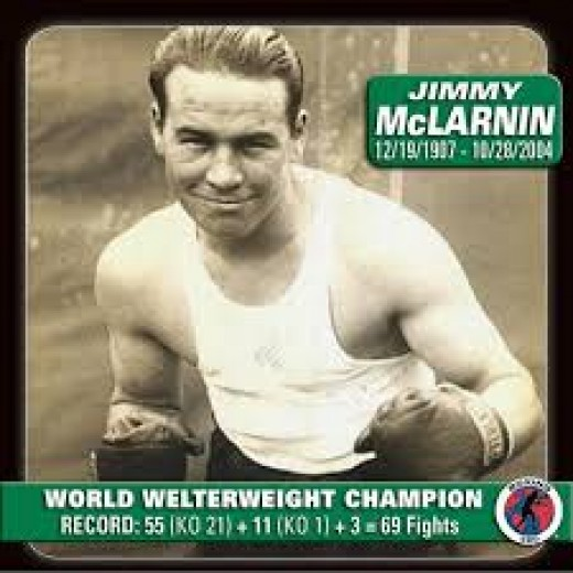 Jimmy McLarnin is a former two-time welterweight world champion.