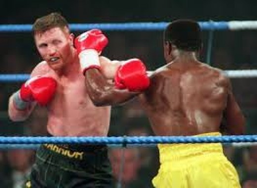 Steve Collins beat Chris Eubank for the super middleweight crown then repeated the feat in a rematch.