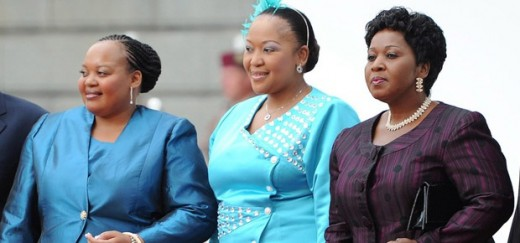 South Africa. Some of President Jacob Zuma's wives.