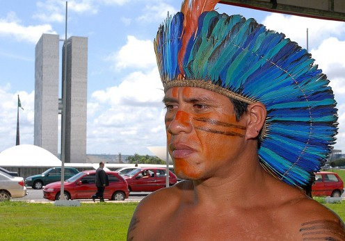 A modern Tupi chief.