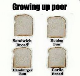 When we grew up loaf bread was used for many things.