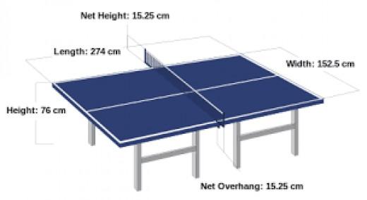 Table tennis table diagram