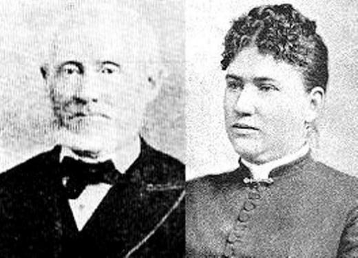 Andrew Jackson Borden and Abby Borden nee` Gray