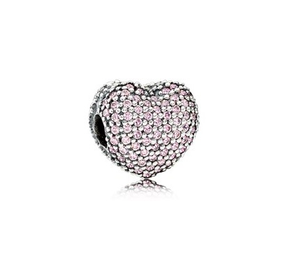 Pave Open My Heart Clip