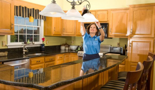 Wiping of Light Fixtures
