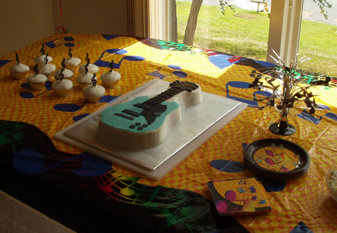 Teen Birthday Party Idea Guitars And Music Notes Decorations