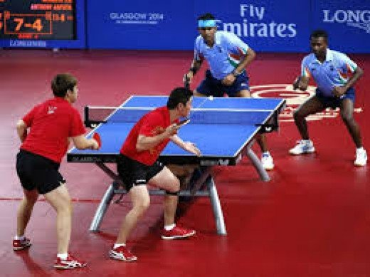 A standard table tennis table