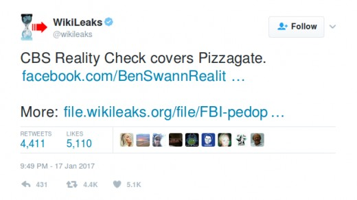 "Wikileaks Tweet on ""Reality Check"" Segment"