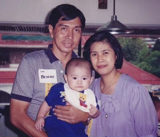 Me and my late hubby Benjie with little Joseph