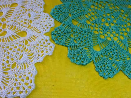 Crocheted doilies or napkins to place under favored objects of art.