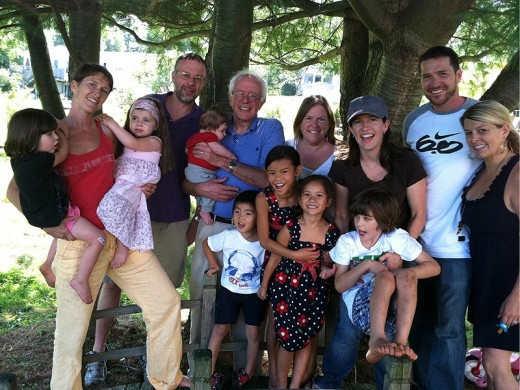 Bernie Sanders and his blended family