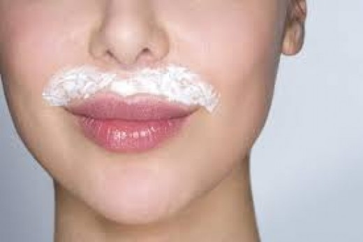 The lip is another problem location. This is especially true for women around menopause when estrogen decreases. A wax or other chemical form of treatment is typical as a home remedy.