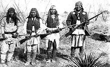 Geronimo and his warriors, 1886
