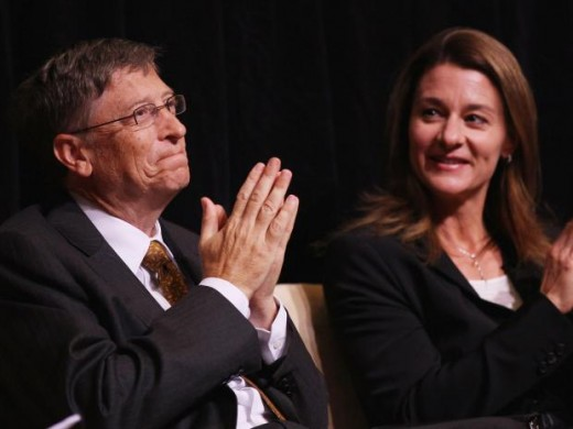 Microsoft founder Bill Gates and wife Melinda on the issue of trust funds.