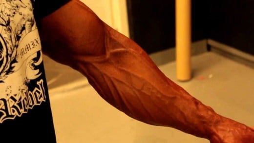 Strong forearms are impressive and sexy