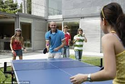 Learning how to play table tennis