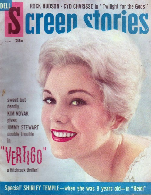 Kim on the cover of the June 1958 issue of Screen Stories